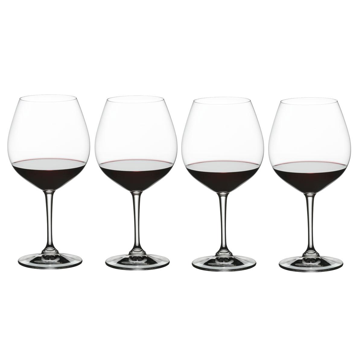 Nachtmann Vivino Burgundy Glasses, Set of 4