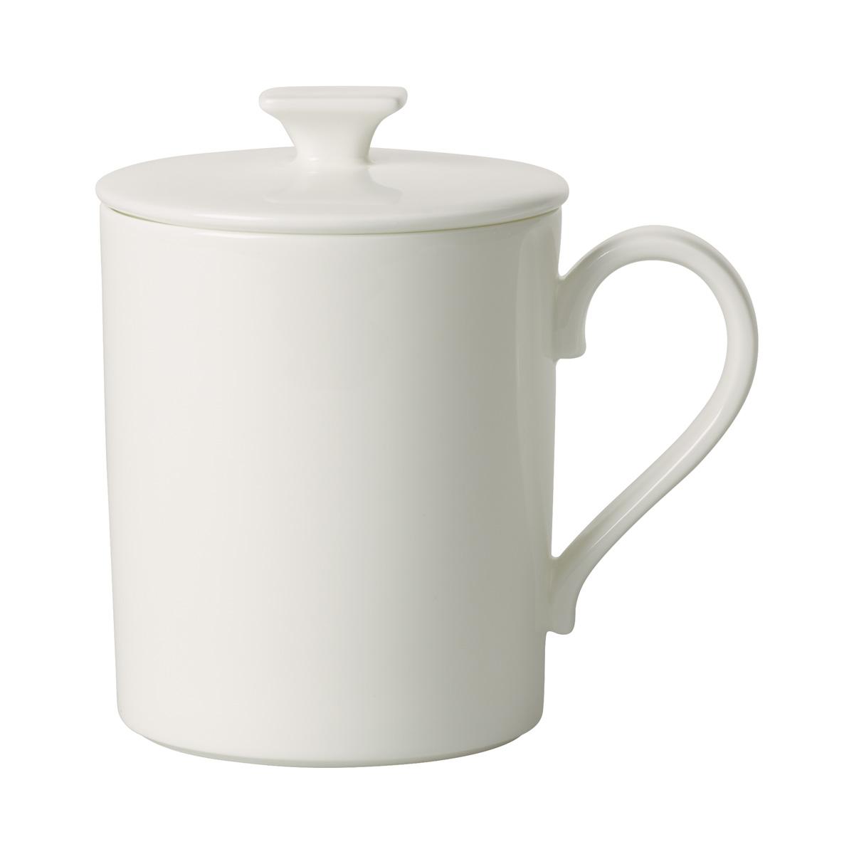 Villeroy and Boch MetroChic Blanc Mug with Lid