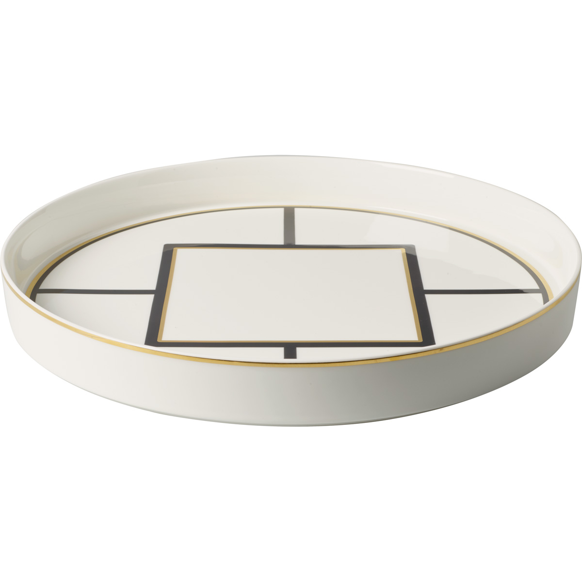 """Villeroy and Boch MetroChic Round Decorative Tray 10.75"""""""