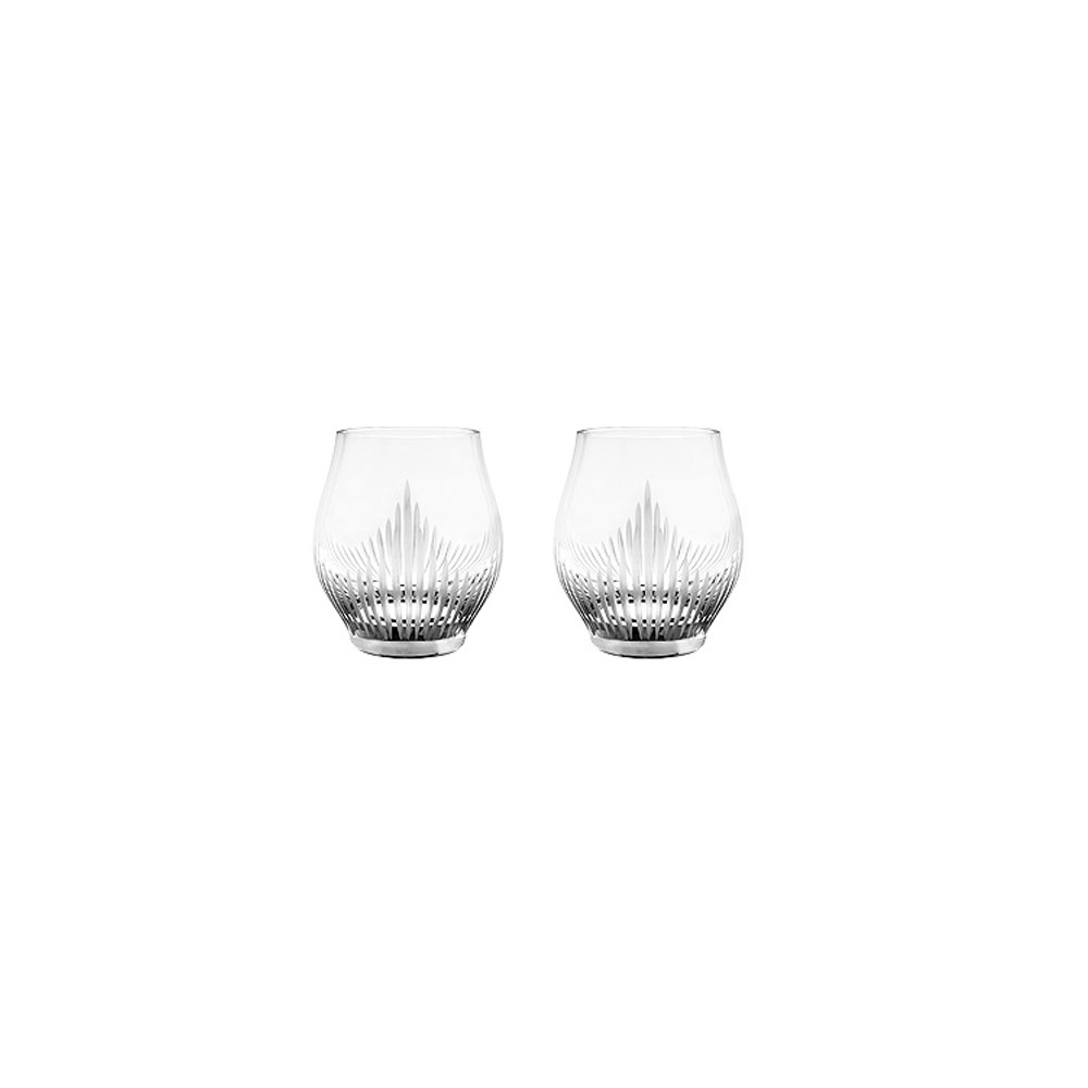 Lalique 100 Points Shot Crystal Glasses By James Suckling, Pair