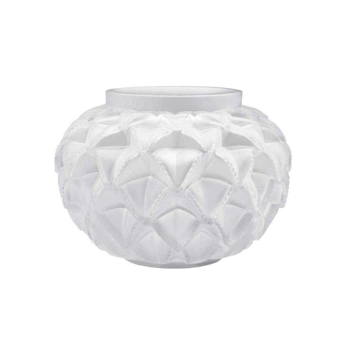 "Lalique Crystal, Languedoc 8 7/16"" Crystal Vase, Clear"