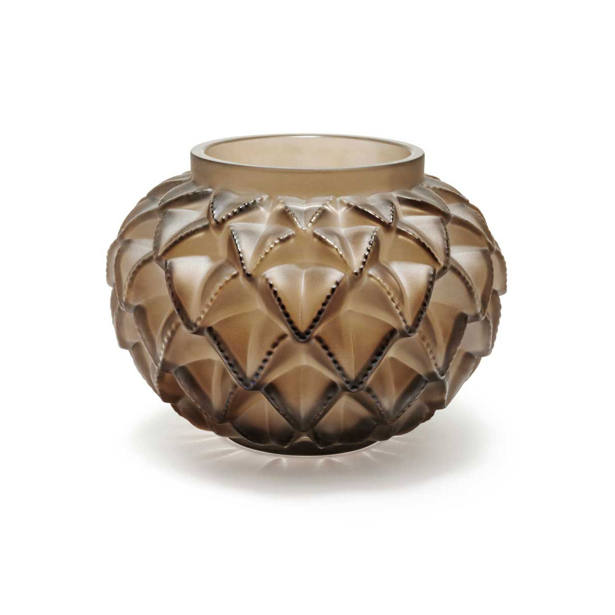 "Lalique Languedoc 8.5"" Vase, Bronze"