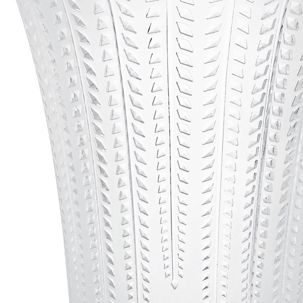 Lalique Crystal, Glycines Flared Crystal Vase