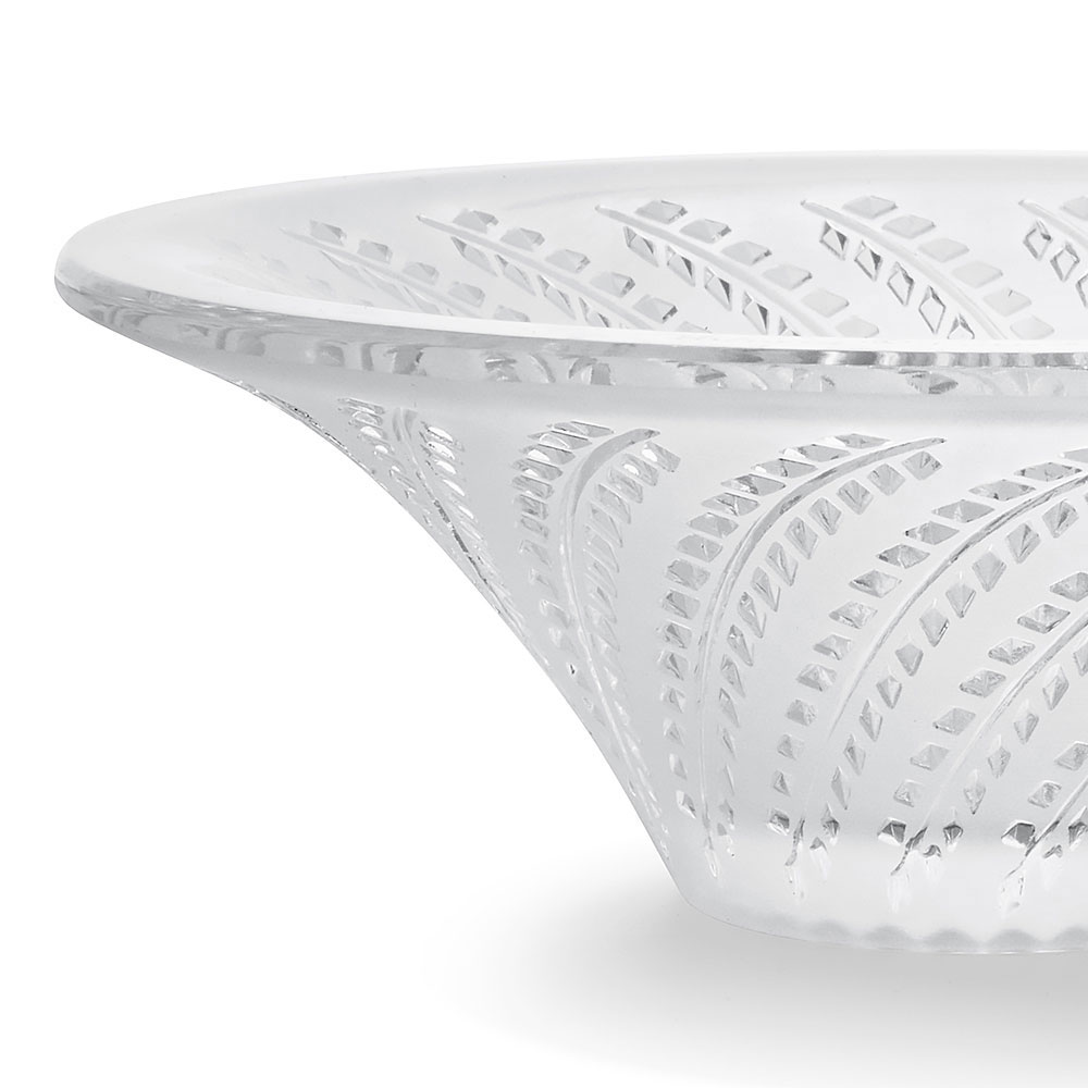 Lalique Crystal, Glycines Hollow Crystal Bowl