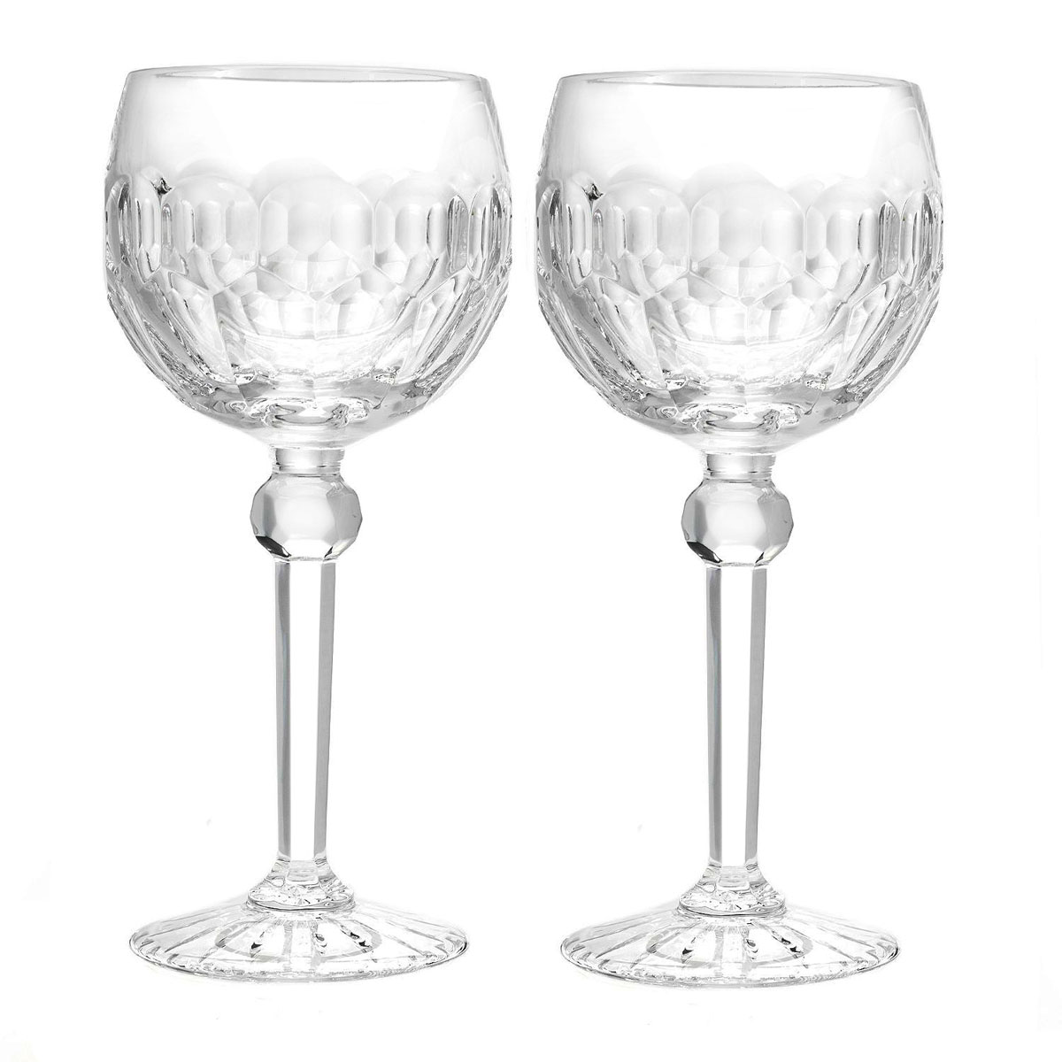 Waterford Curraghmore Balloon Wine Glasses, Pair