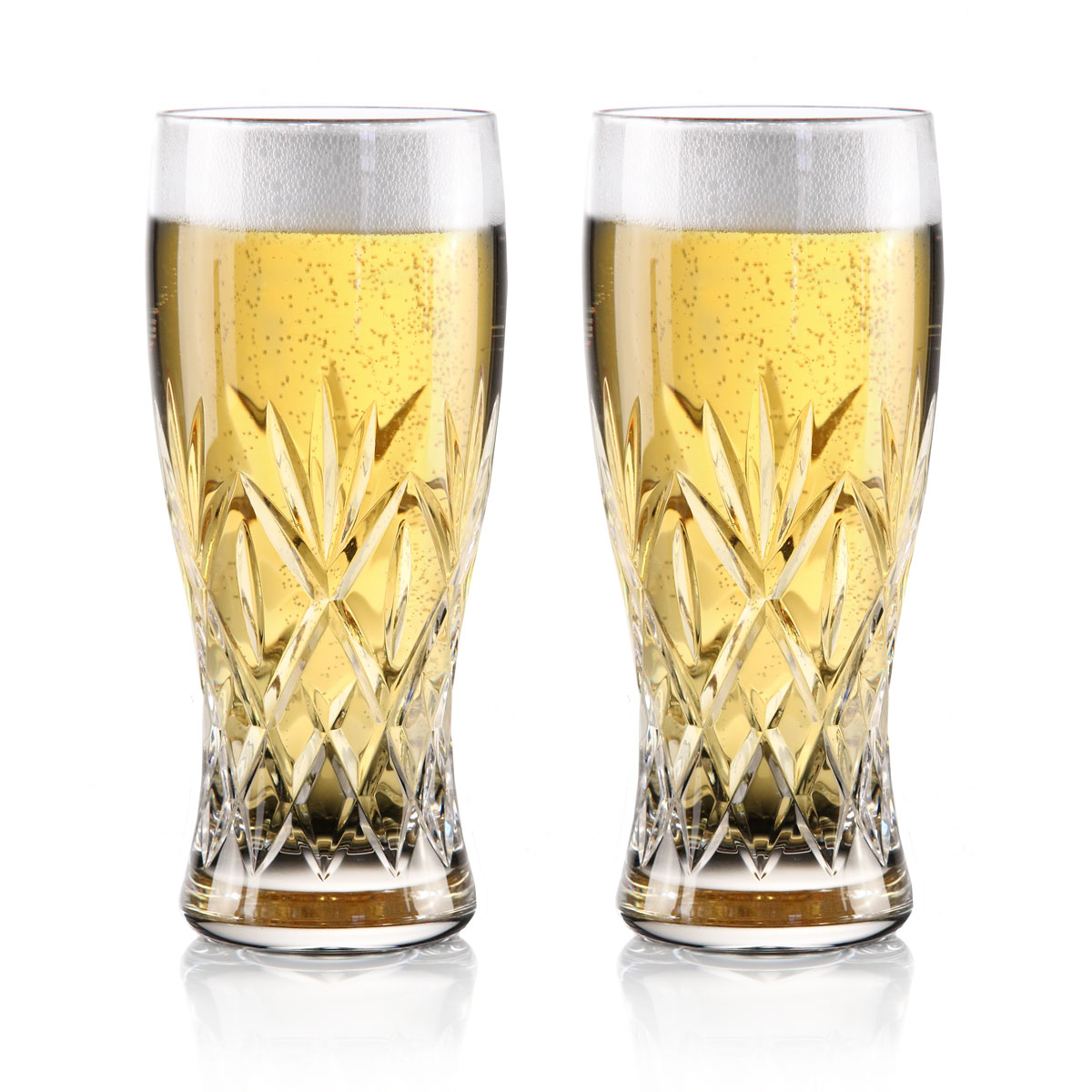 Waterford Crystal Huntley Pint Beer Glasses, Pair