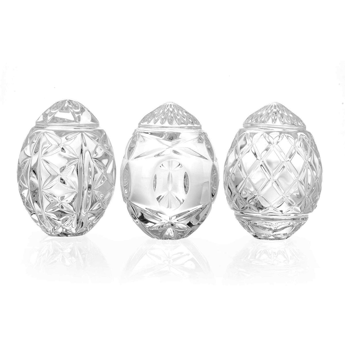 Waterford Crystal Egg Collectibles, Set of Three