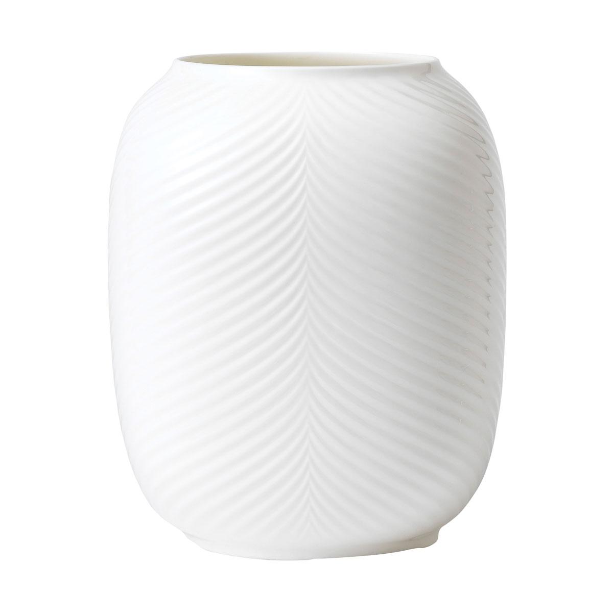 Wedgwood White Folia Lithophane Vase Large