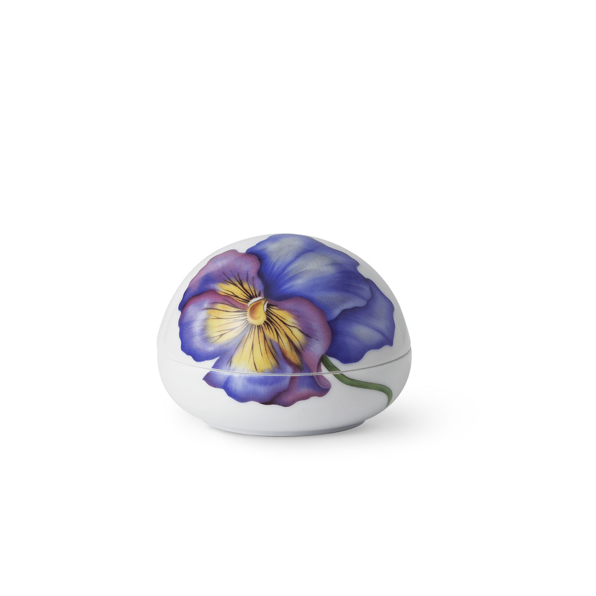 Royal Copenhagen 2020 Laying Egg Bonbonniere Pansy
