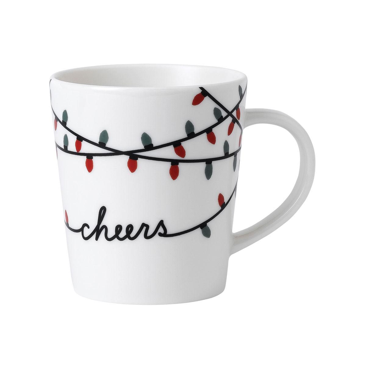 ED Ellen DeGeneres By Royal Doulton Christmas Cheers Mug