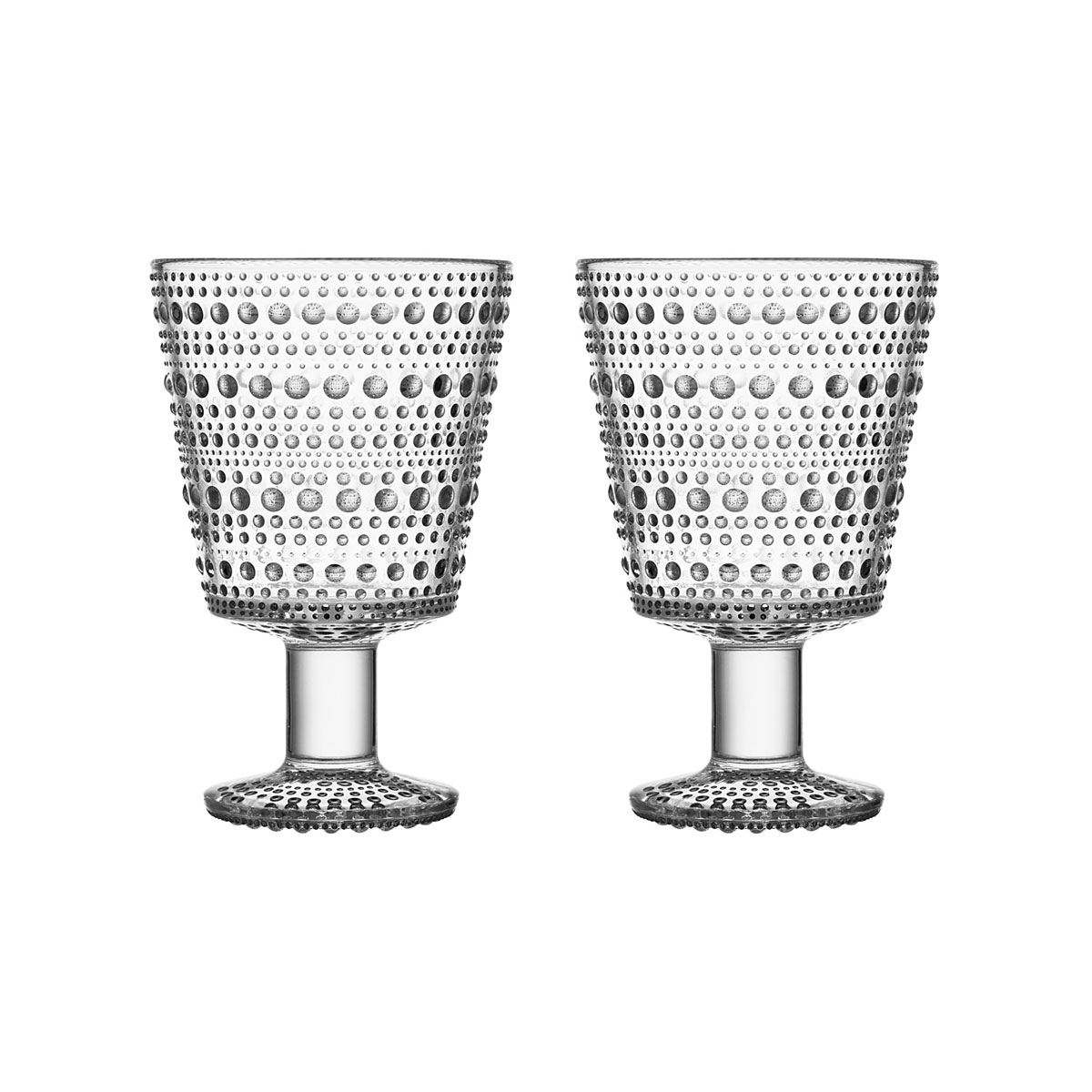Iittala Kastehelmi Universal Glass Clear Pair