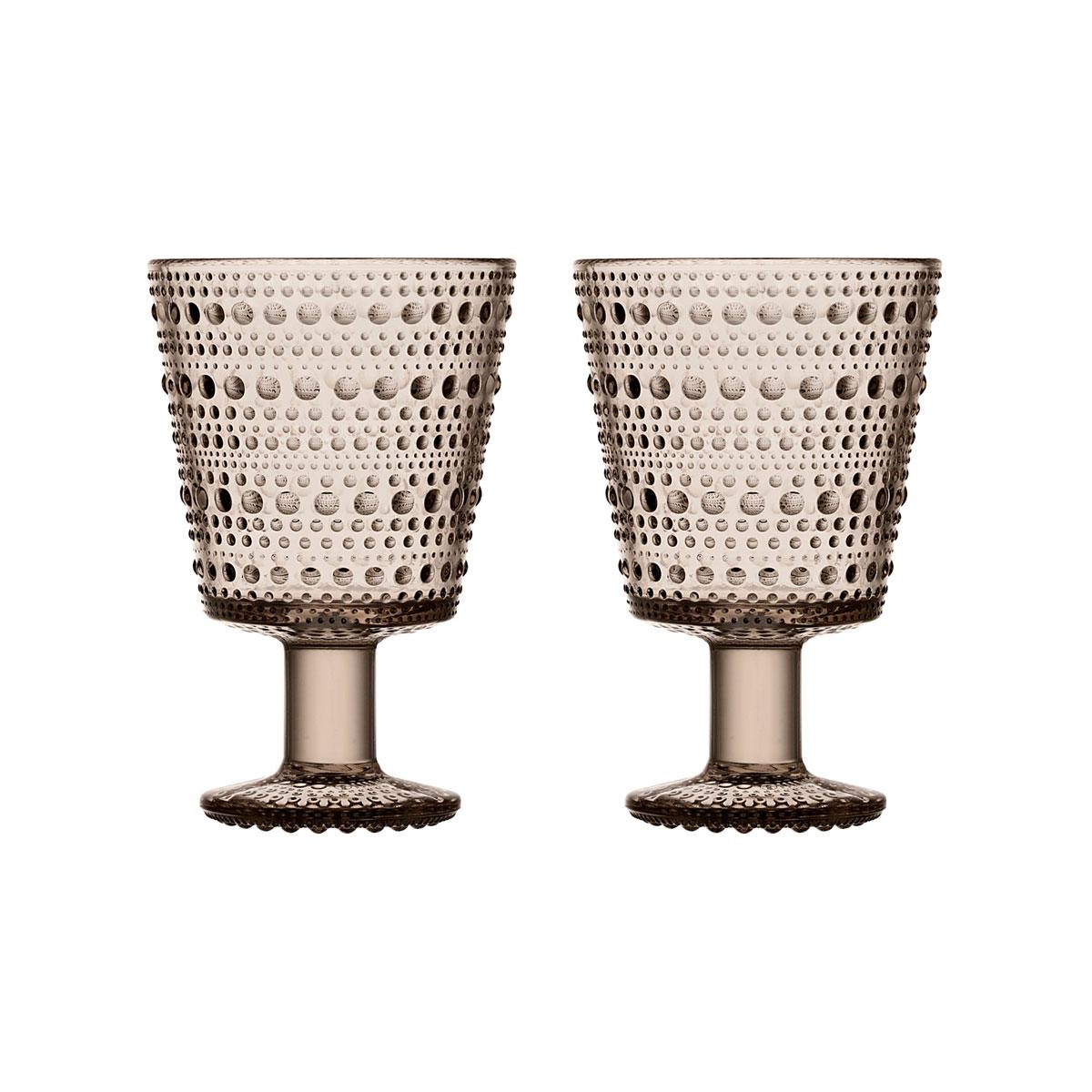 Iittala Kastehelmi Universal Glass Linen Pair