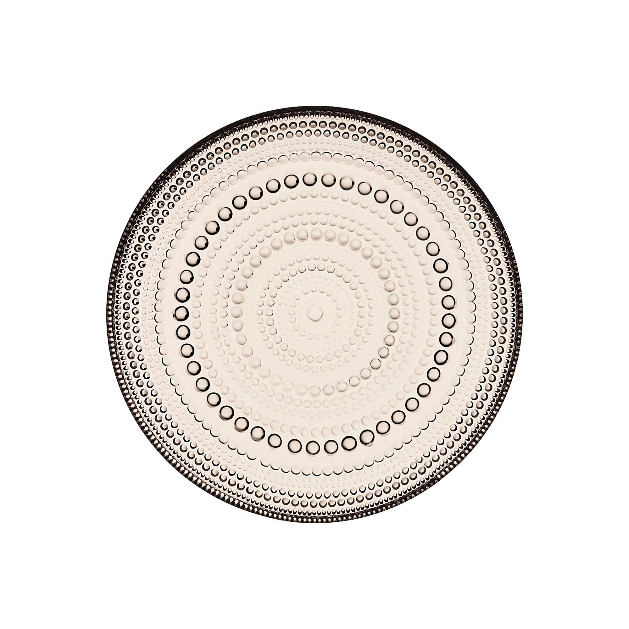 """Iittala Kastehelmi Plate 6.75"""" Linen"""