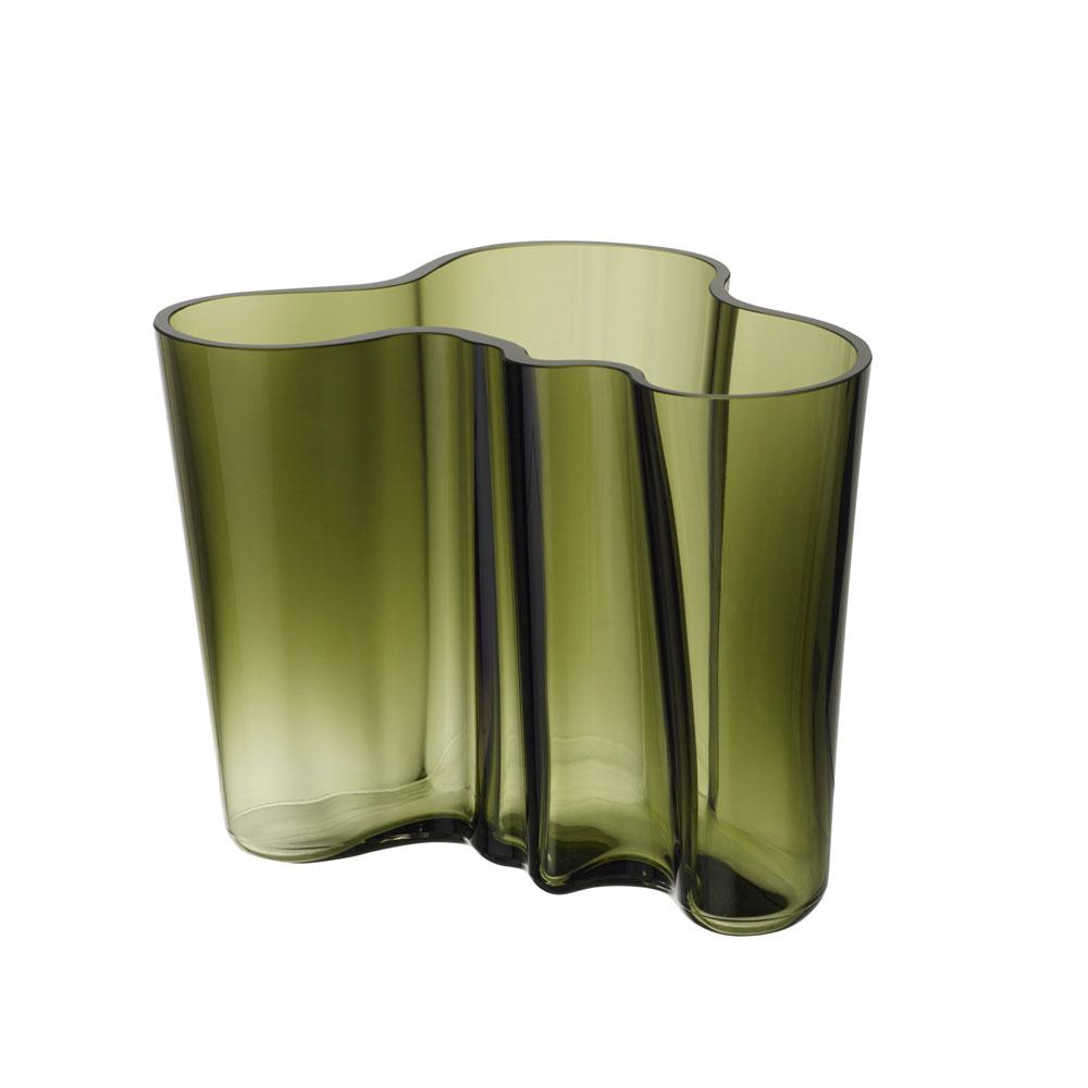 "Iittala Aalto Vase 6.25"" Moss Green"