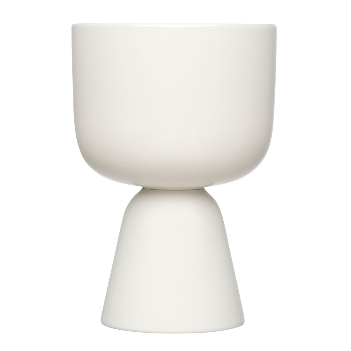 """Iittala Nappula Plant Pot 9x6"""" White"""