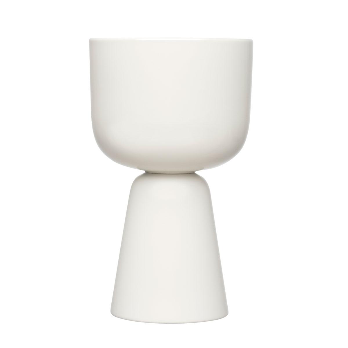 """Iittala Nappula Plant Pot 10.25"""" White"""