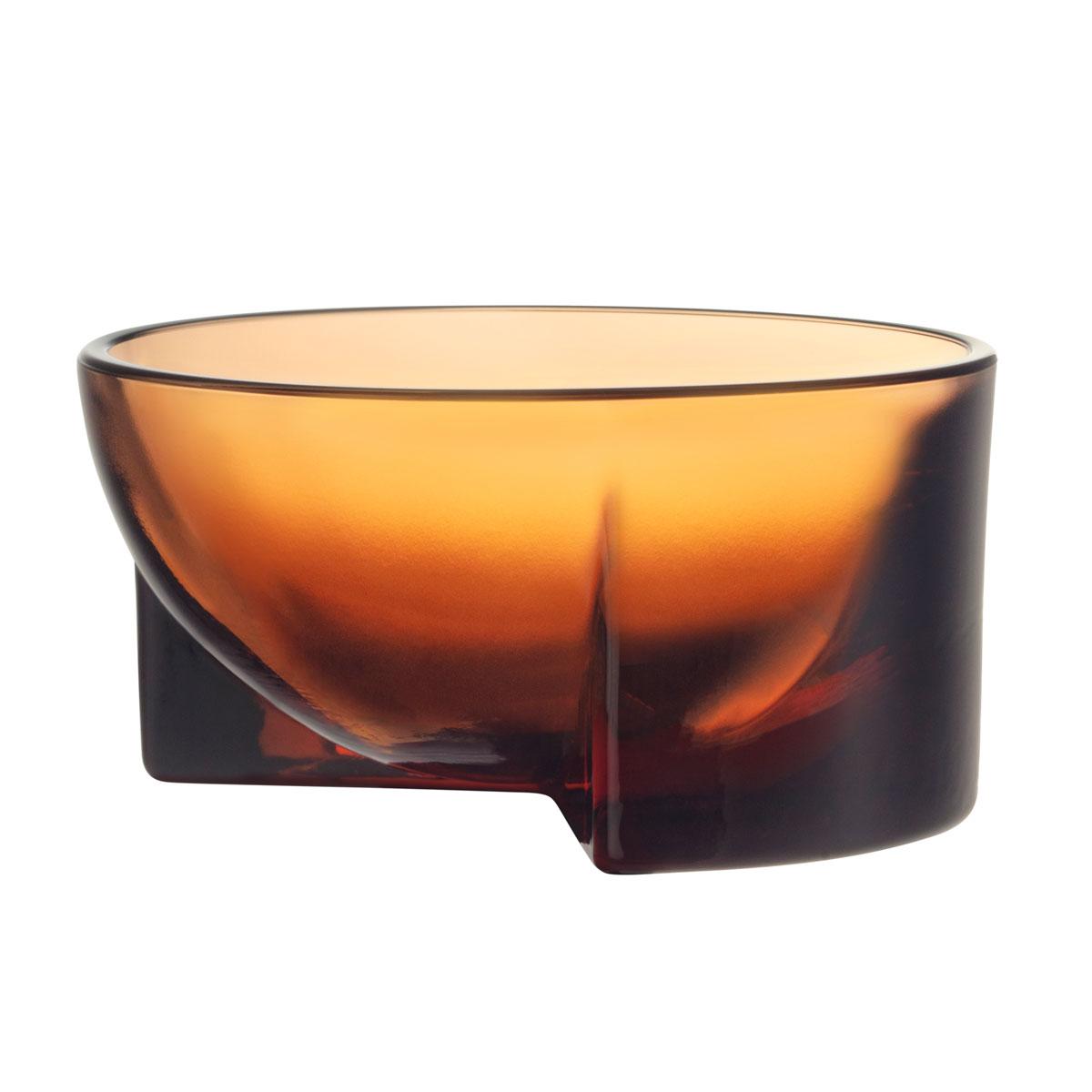 "Iittala Kuru Glass Bowl 5"" Seville Orange"