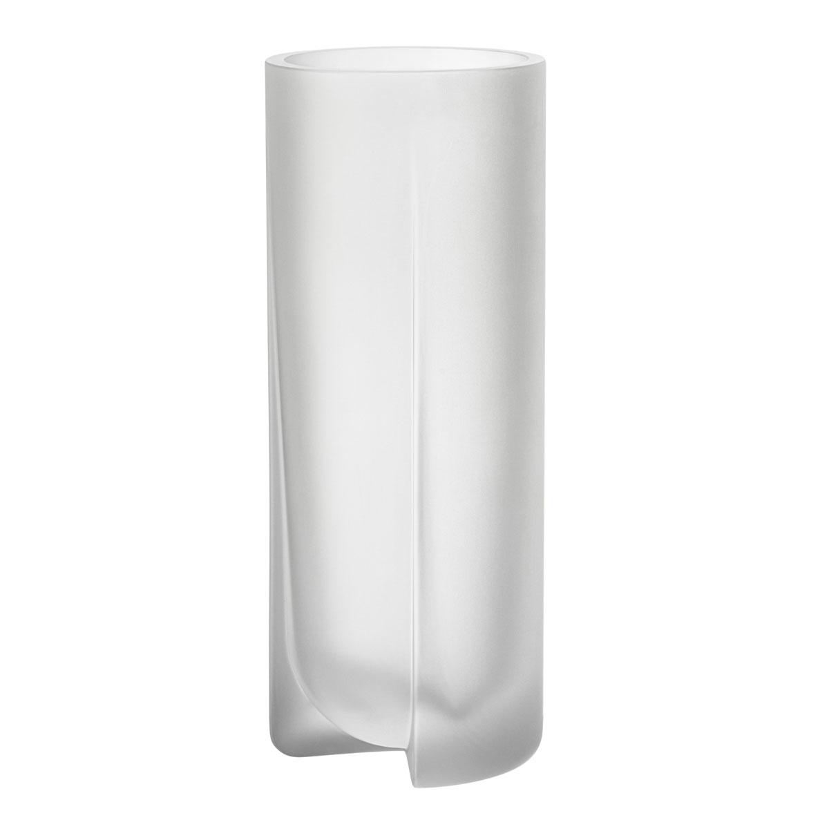 "Iittala Kuru Vase 10"" Frosted Clear"