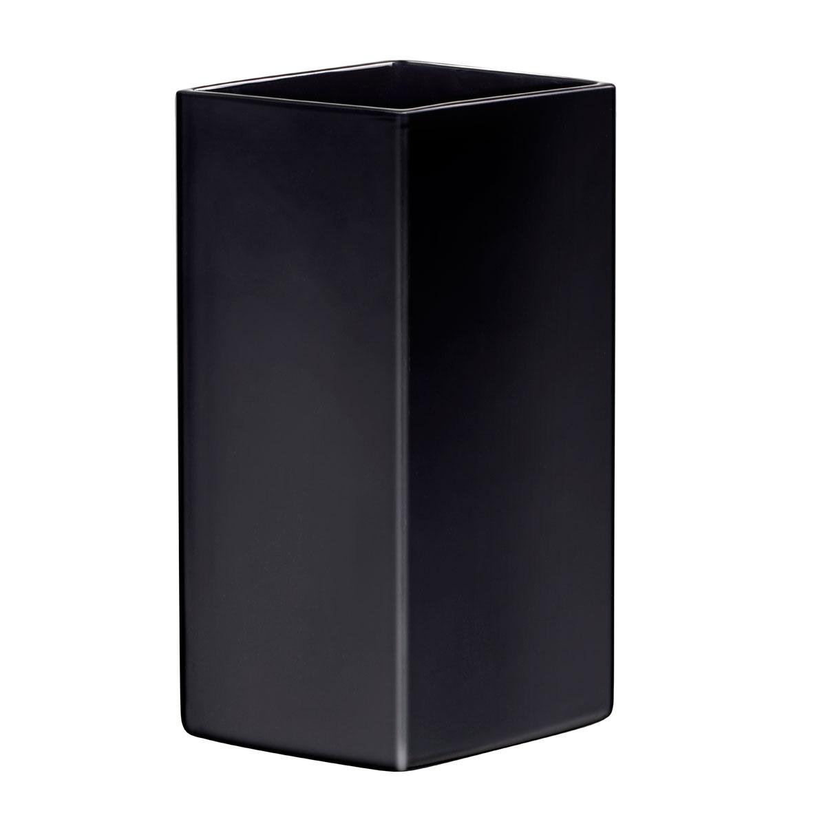 """Iittala Ruutu Ceramic Vase 12.5"""" Black"""
