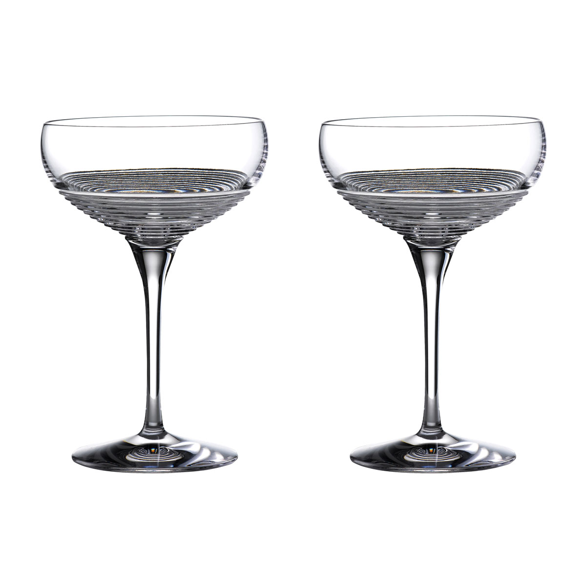 Waterford Mixology Rum Circon Cocktail Coupe Large, Pair