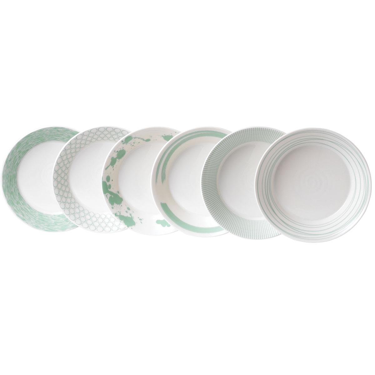 Royal Doulton Pacific Mint Pasta Bowl Set of Six