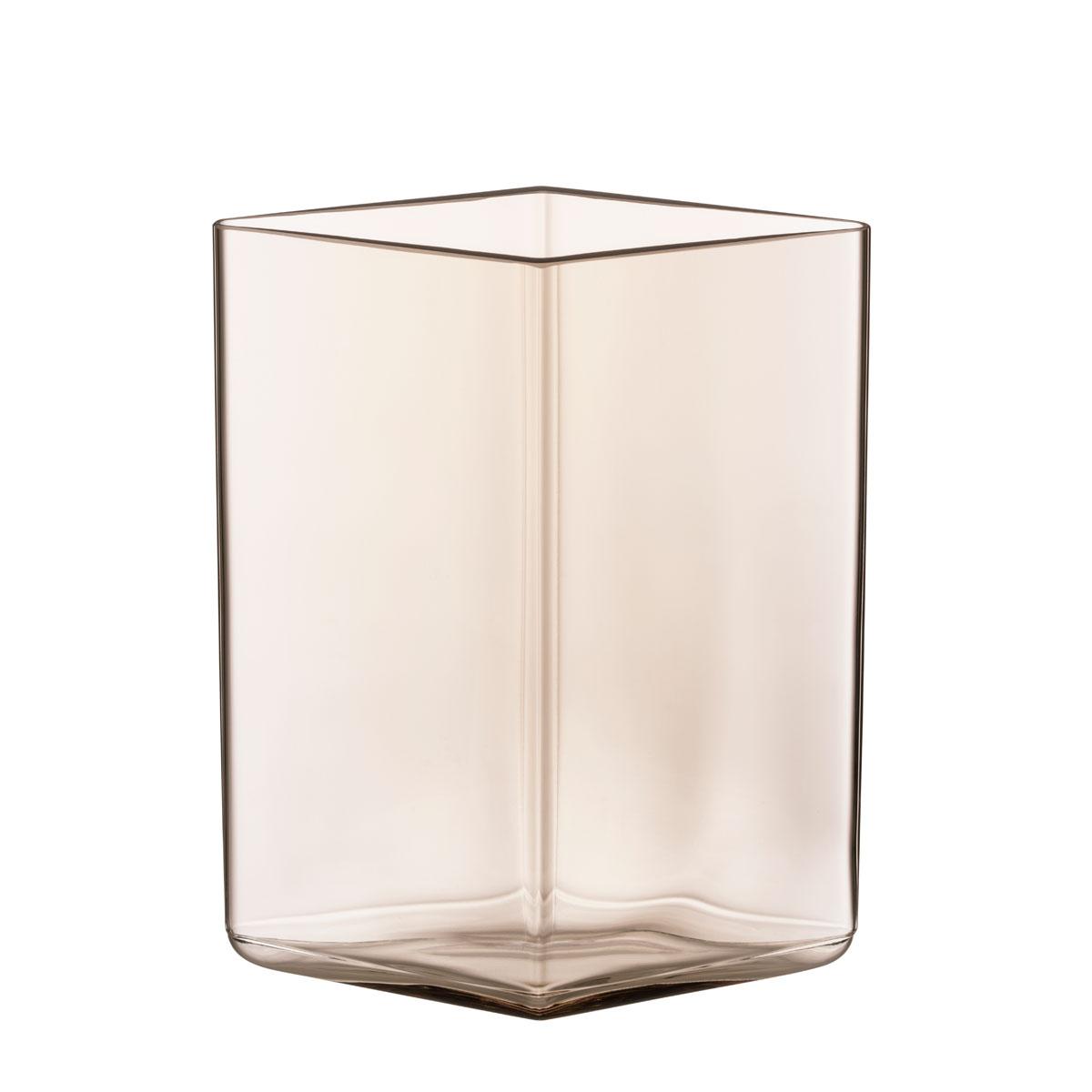 """Iittala Ruutu Vase 4.5"""" Linen"""