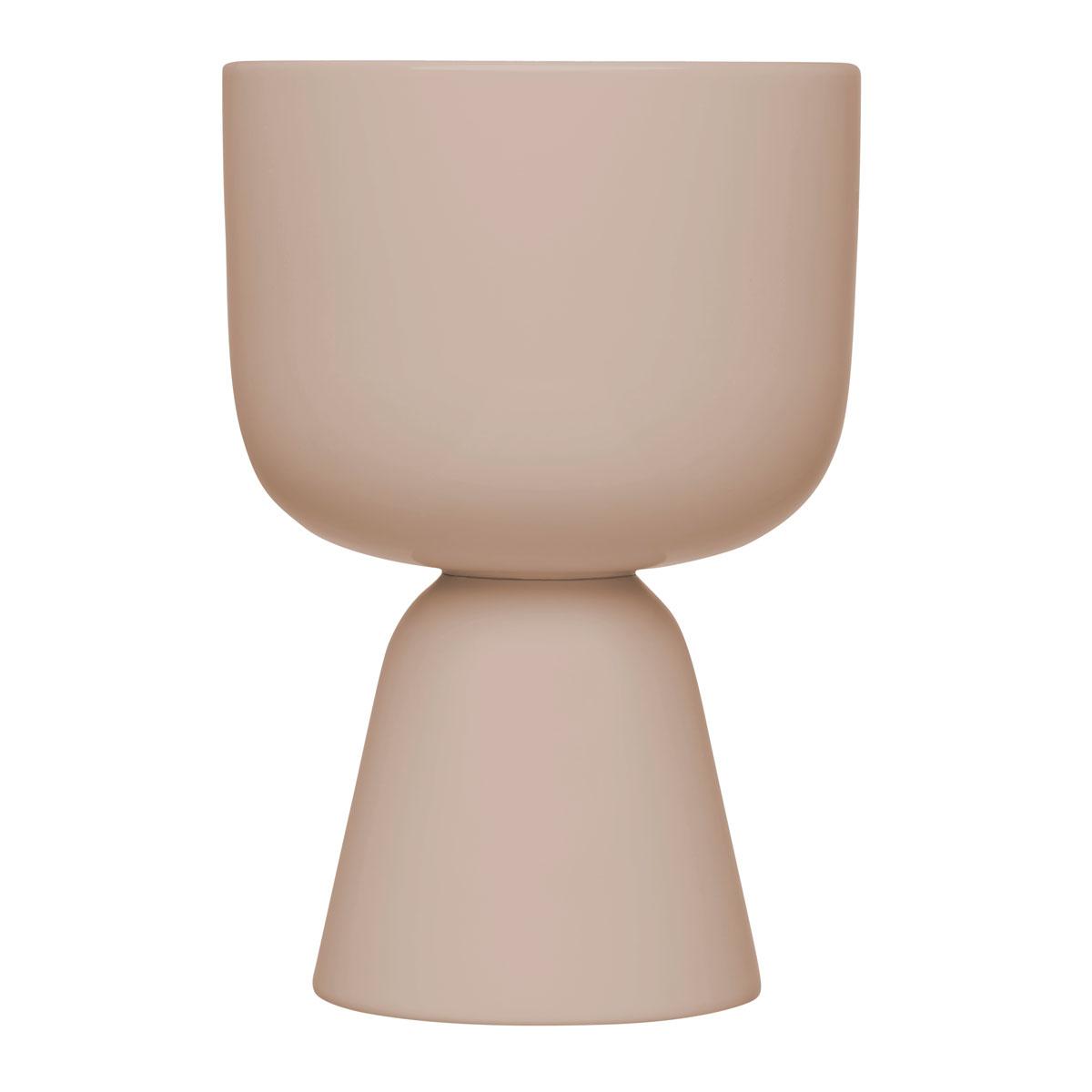 "Iittala Nappula Plant Pot 9x6"" Beige"