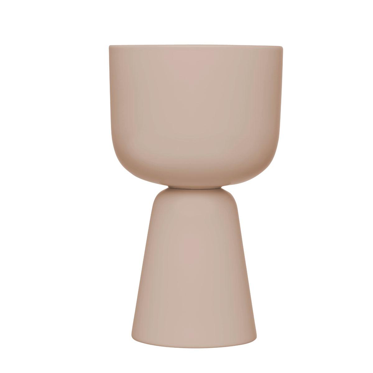 "Iittala Nappula Plant Pot 10.25"" Beige"