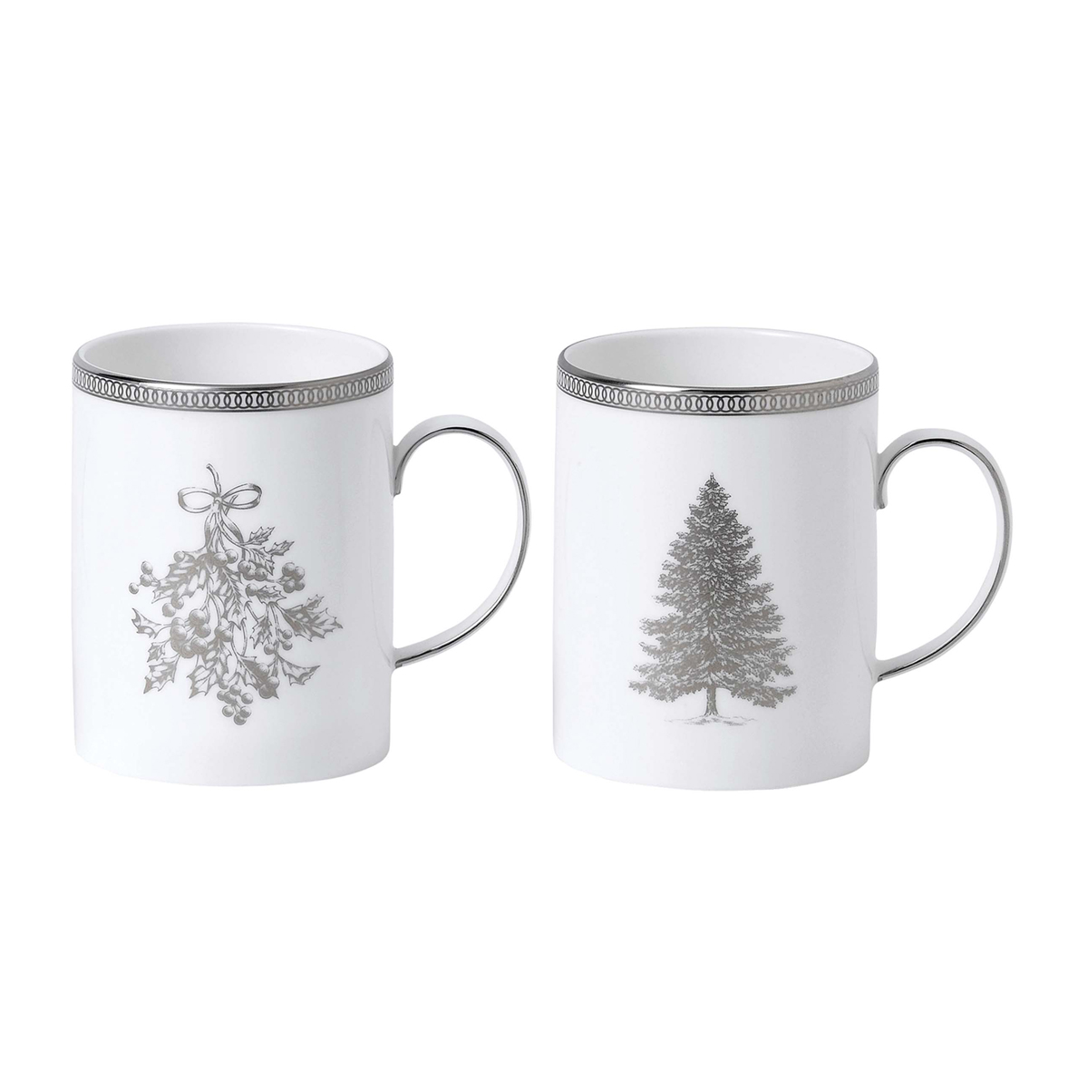 Wedgwood 2021 Winter White Mug Pair