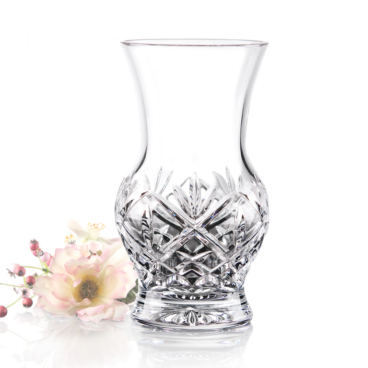 "Waterford Huntley 6"" Footed Crystal Vase"