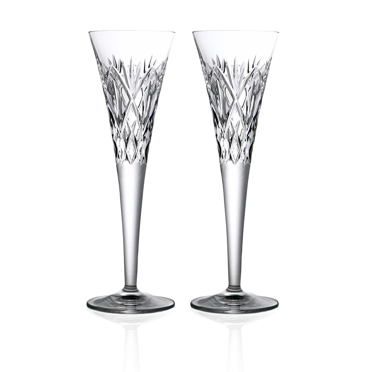 Waterford Huntley Best Wishes Toasting Flutes, Pair