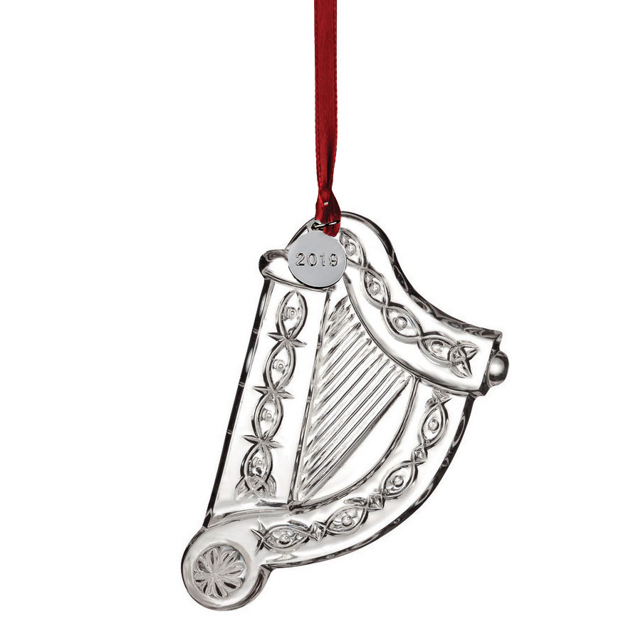 Waterford Crystal 2019 Irish Harp Ornament
