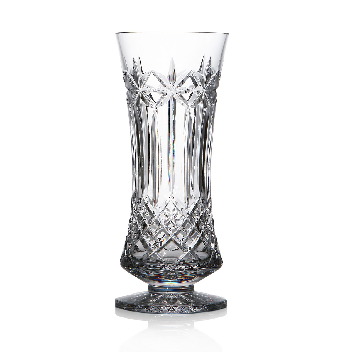 "Waterford Crystal Balmoral 7 1/2"" Footed Vase"