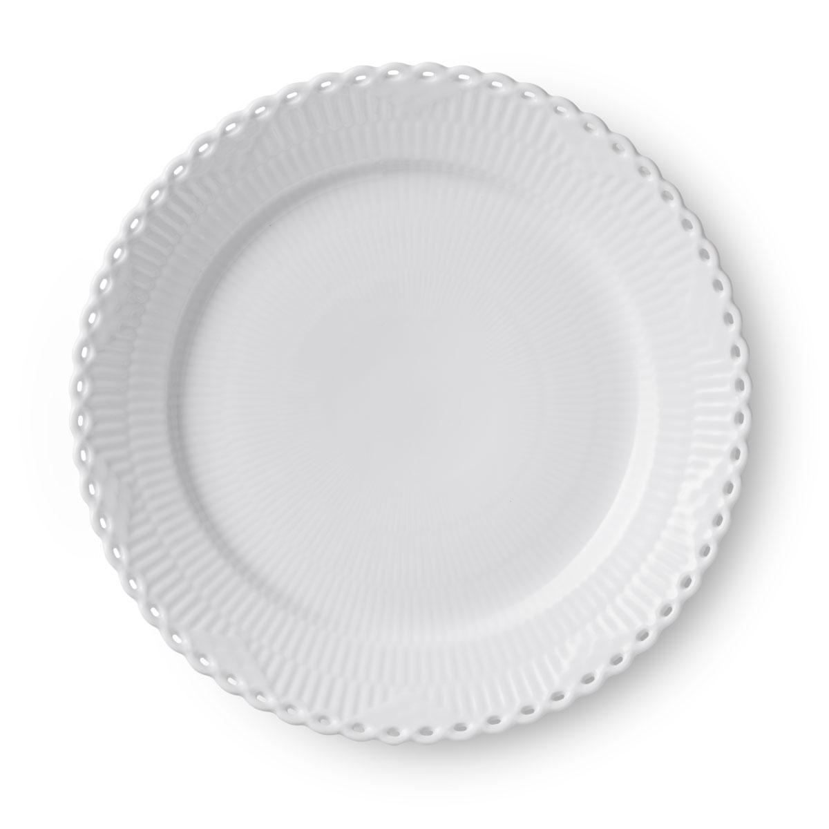 """Royal Copenhagen White Fluted Full Lace Dinner Plate 10.75"""""""