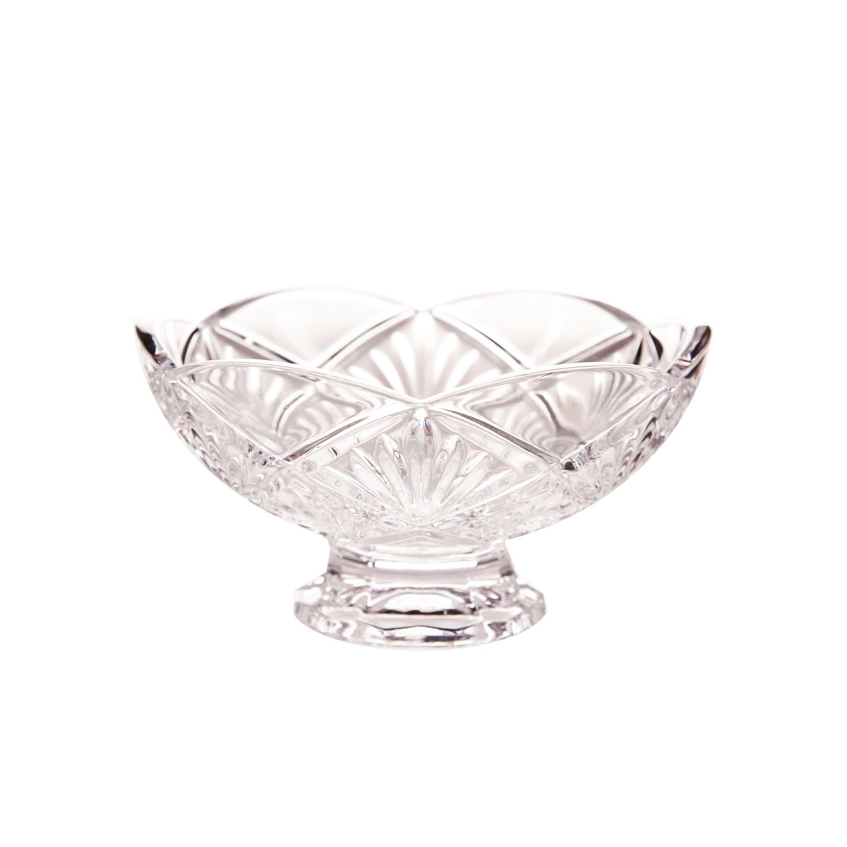 "Waterford Crystal Evie 6"" Footed Bowl"