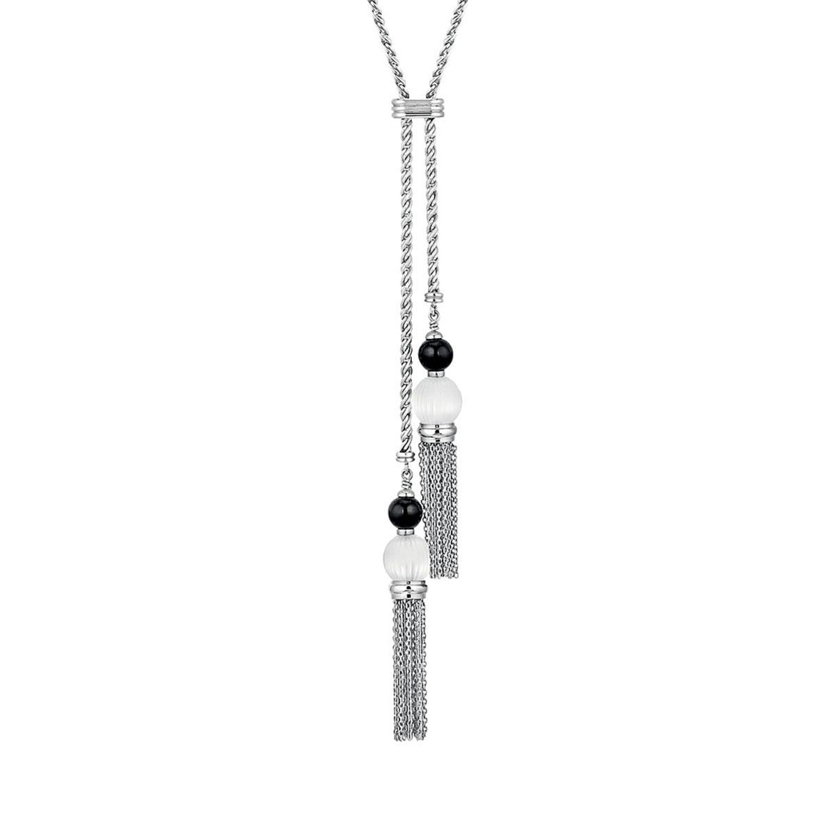 Lalique Vibrante Tassel Necklace, SIlver