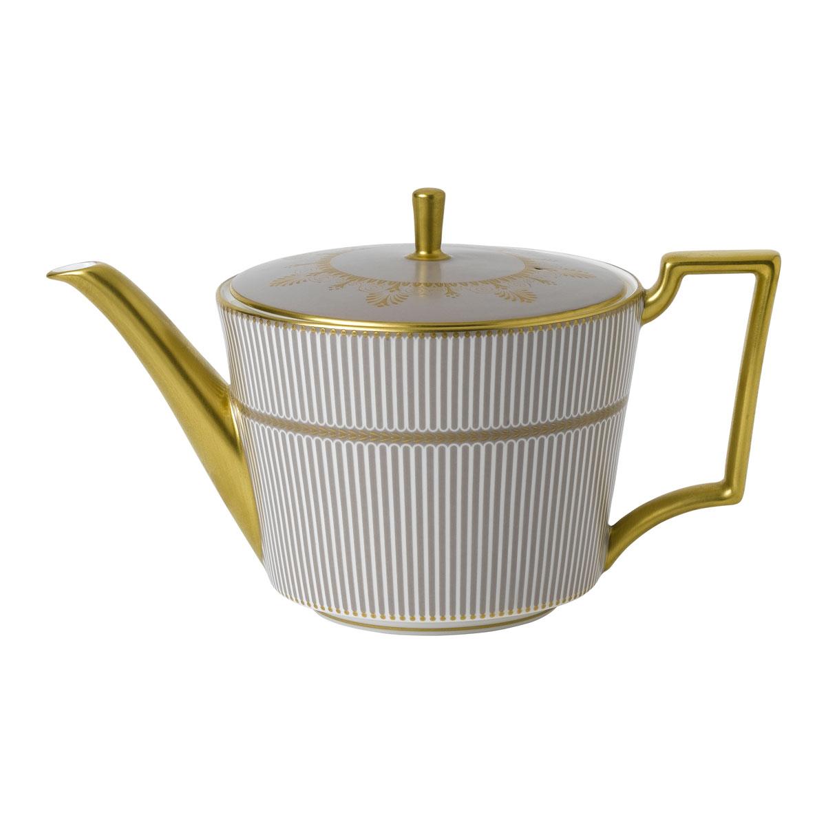 Wedgwood Anthemion Grey Teapot 1 L