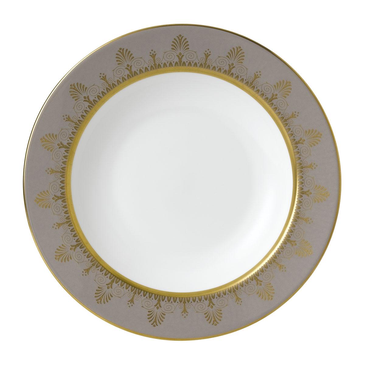 "Wedgwood Anthemion Grey Rim Soup 9"""