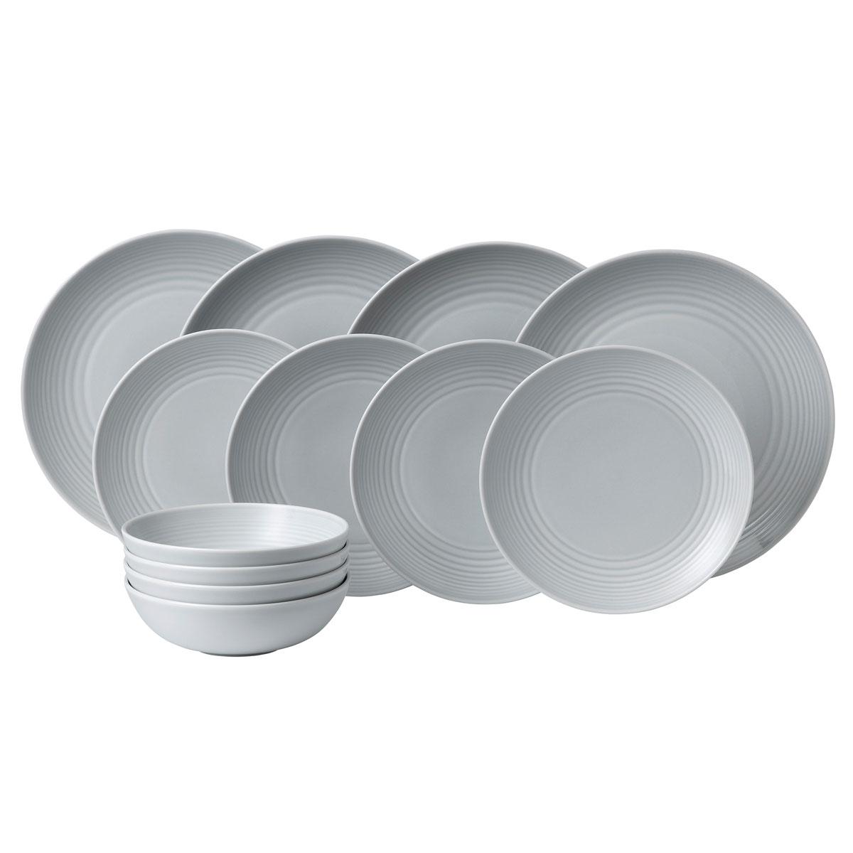 Royal Doulton Gordon Ramsay Maze Light Grey 12-Piece Set