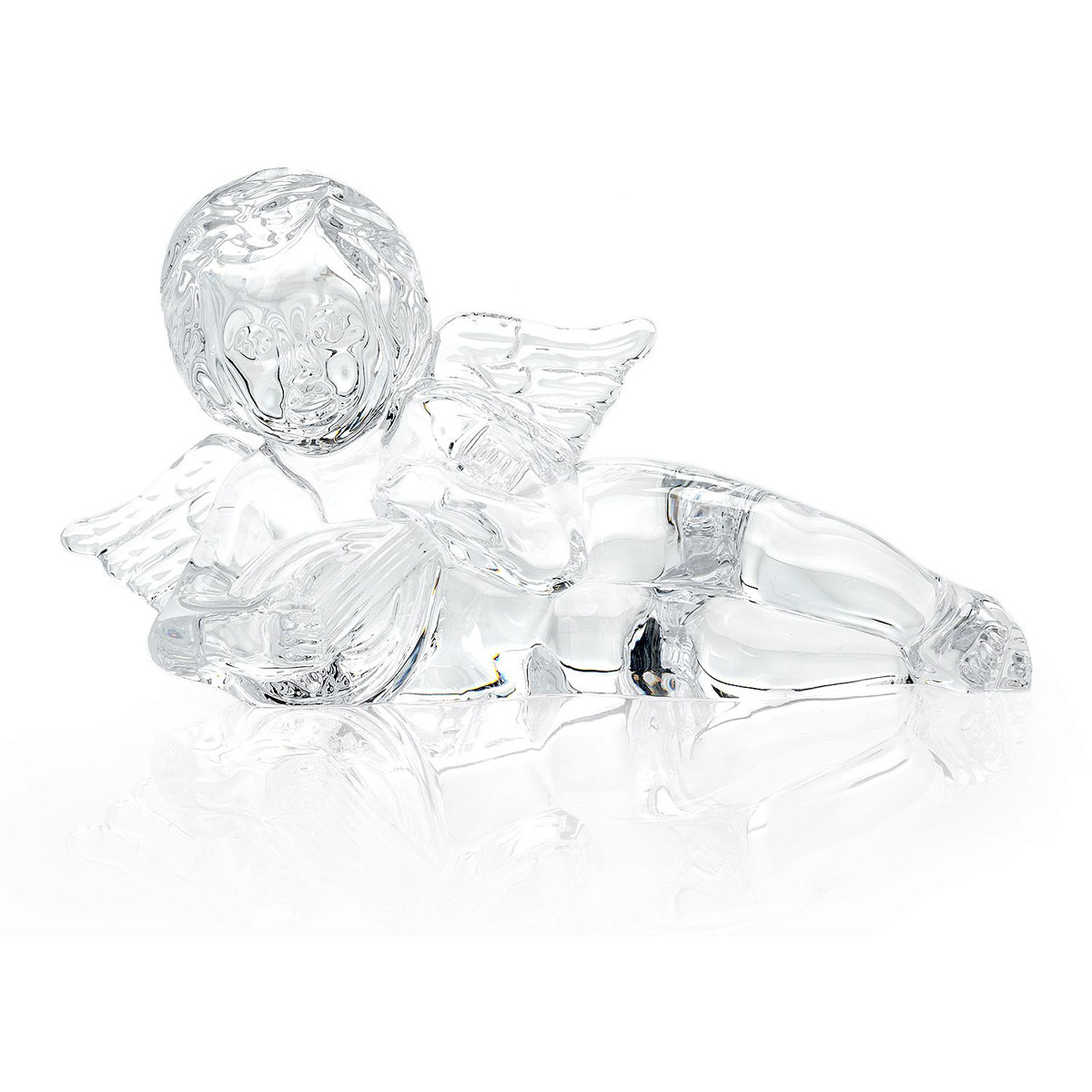 Waterford Crystal Cherub with Lute Sculpture