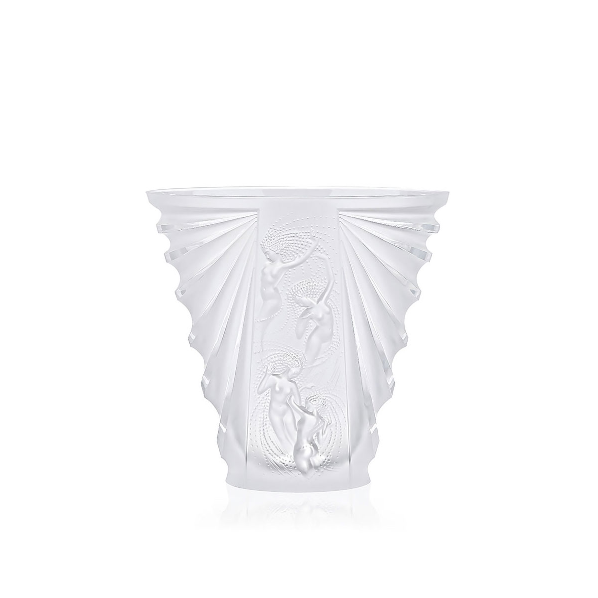 Lalique Crystal, Naiades Crystal Vase, Clear