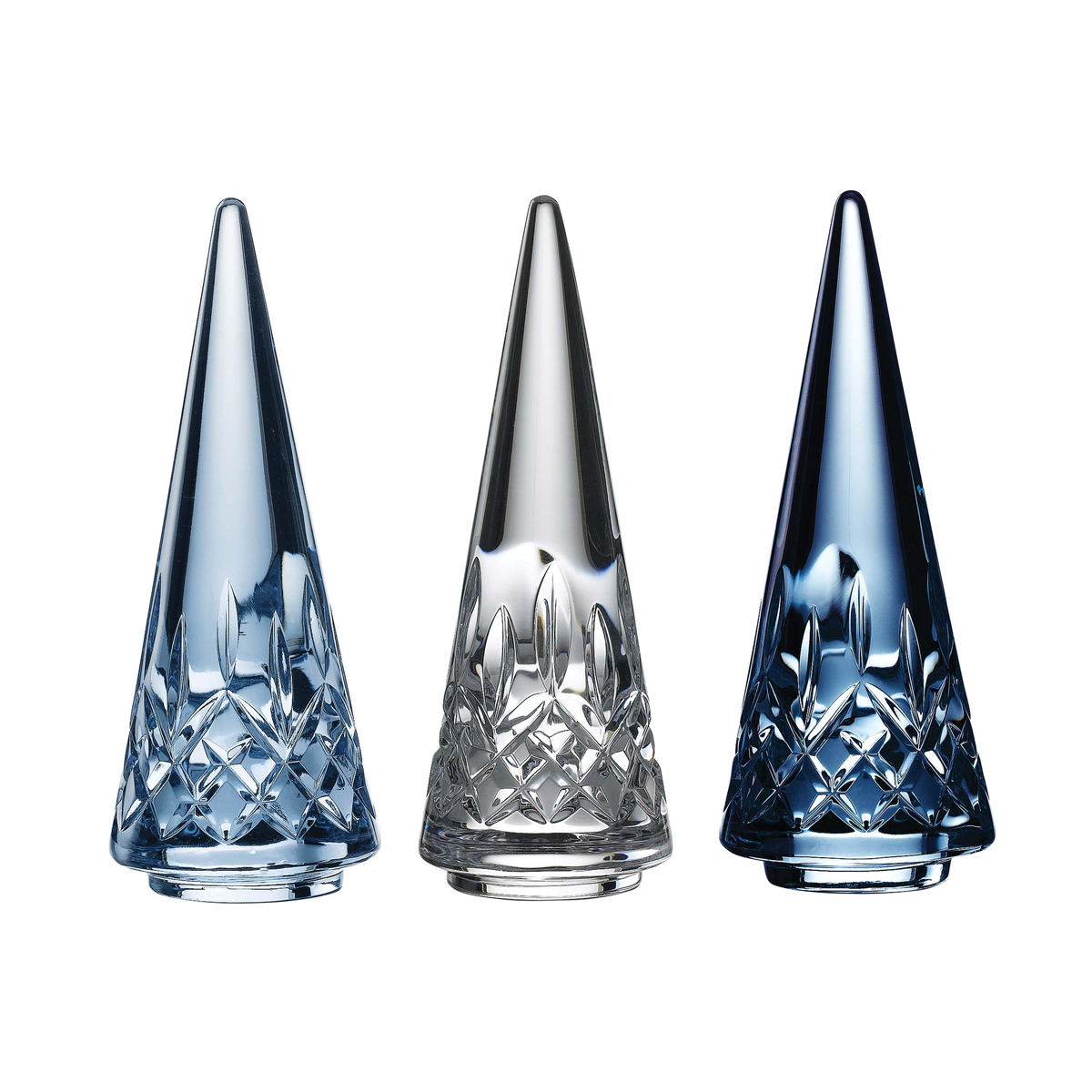 Waterford 2020 Christmas Tree Set of Three Topaz Ombre Mix
