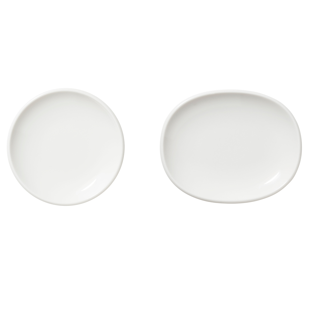 "Iittala Raami Small Plate White Set of 2, 4.5"" and 5.25"""