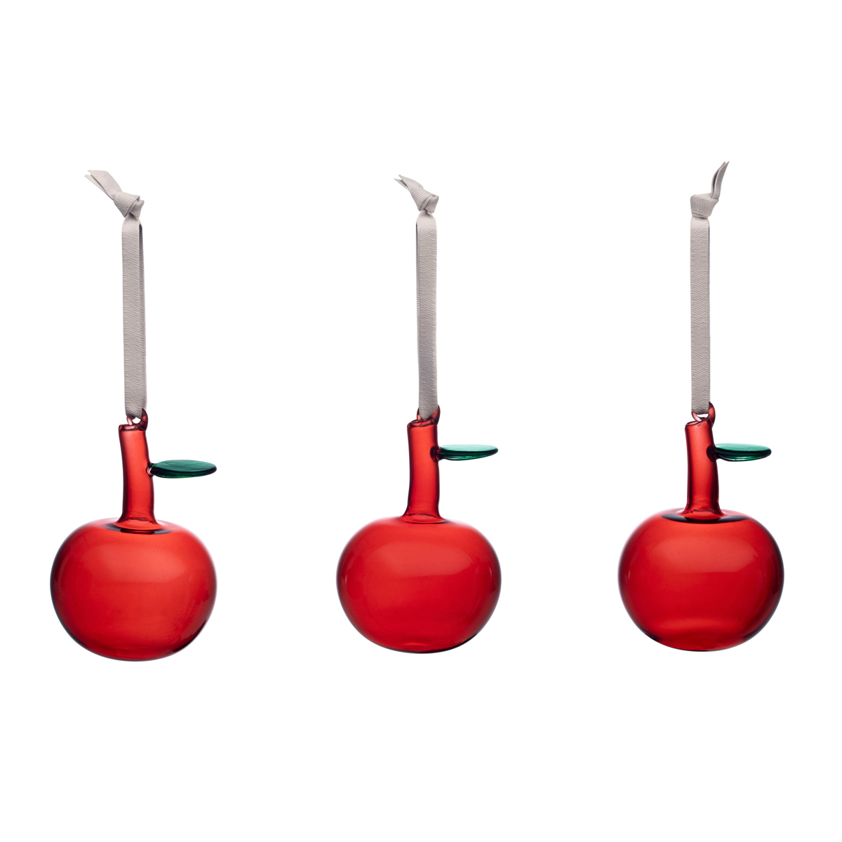 Iittala Iittala Glass Apple Set of 3 Red