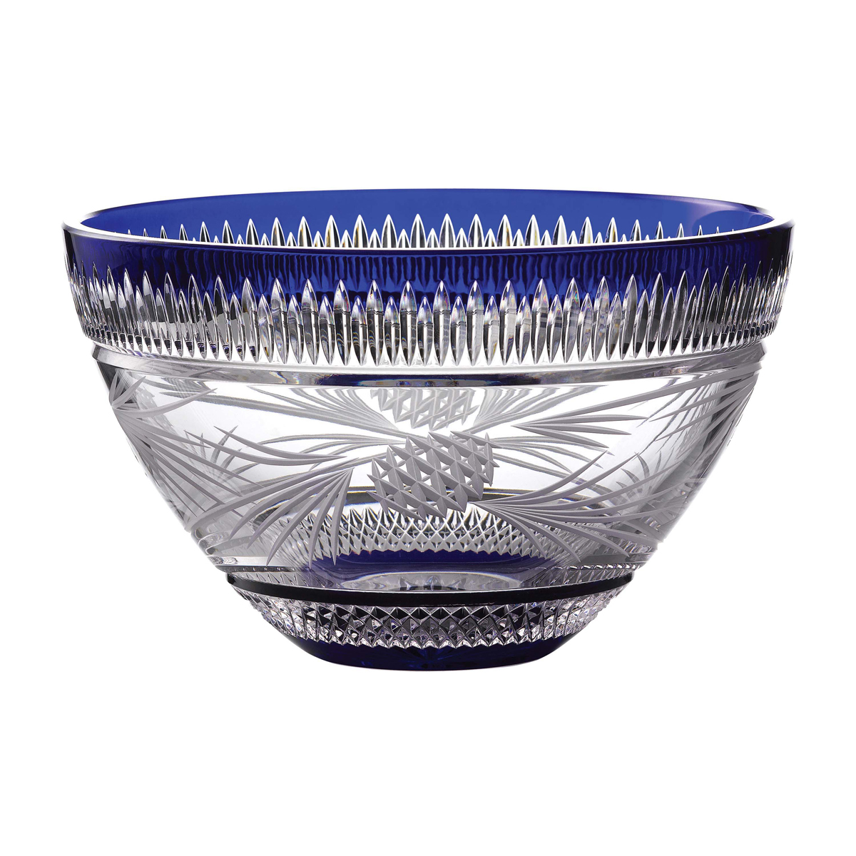 "Waterford 2020 Christmas Master Craft 11"" Bowl Cobalt"