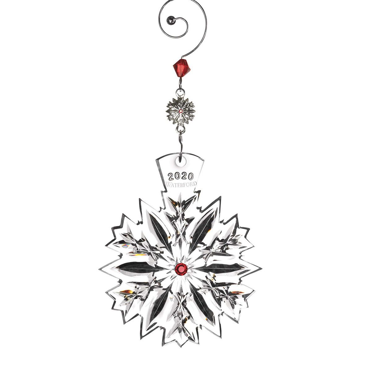 Waterford 2020 Snowflake Wishes Love Cranberry Ornament