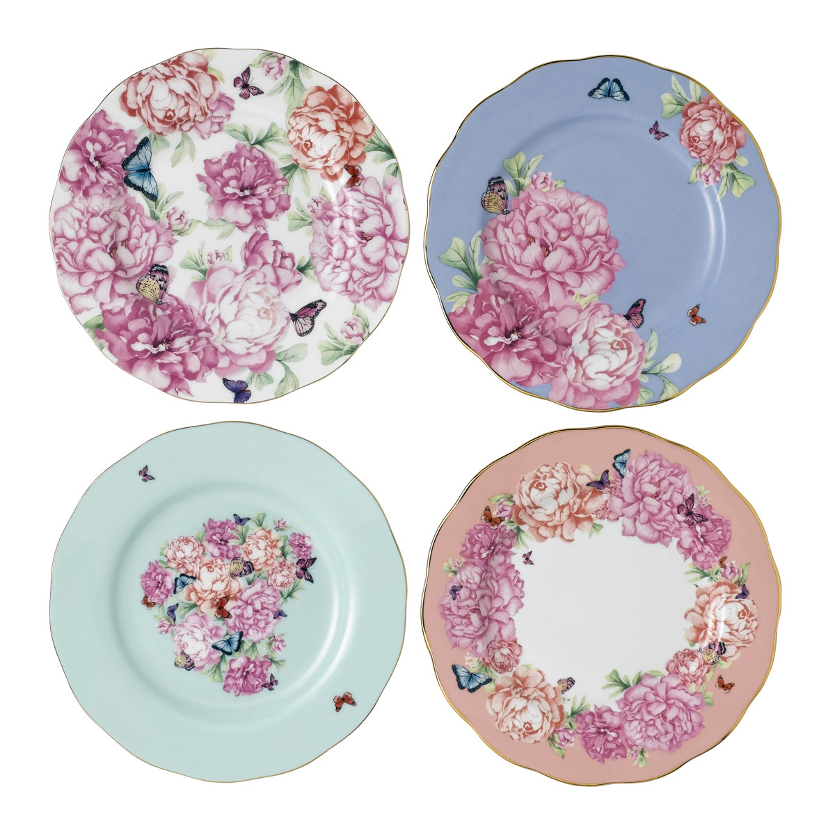 "Royal Albert Miranda Kerr Friendship Accent Plate 8"" Set of 4"
