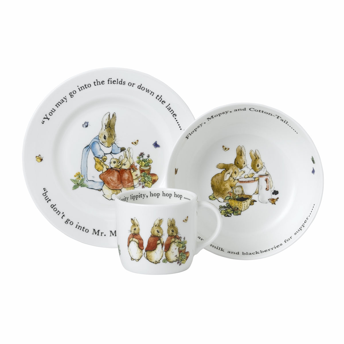 Wedgwood Flopsy Mopsy and Cottontail 3pc Set