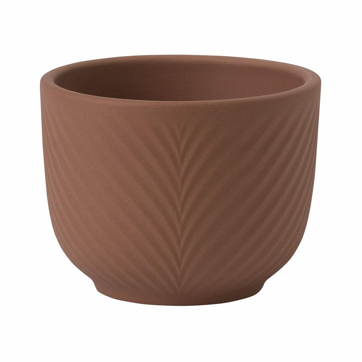 """Wedgwood Folia Jasper Mini Pot Teracotta 2.5"""""""
