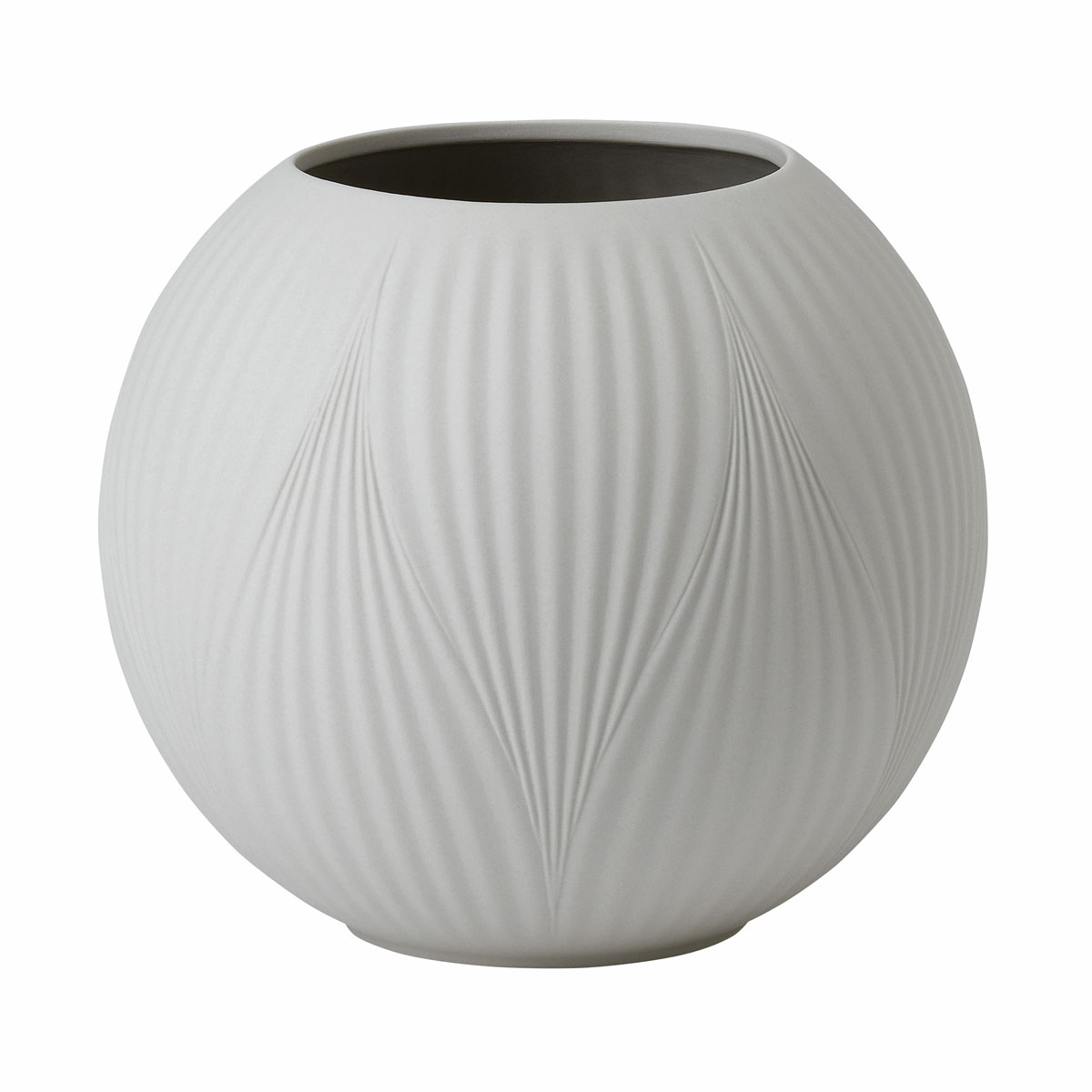 "Wedgwood Folia Jasper Rose Bowl Warm White 5.1"""